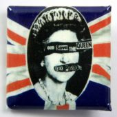 Sex Pistols - 'God Save the Queen' Square Badge